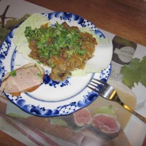 Солянка капустная с грибами
